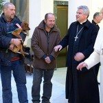 Pope Francis Celebrates His Birthday With A Dog And Homeless People