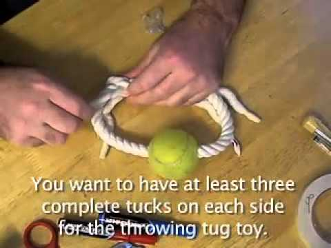 DIY Throwing tug toy for your dog